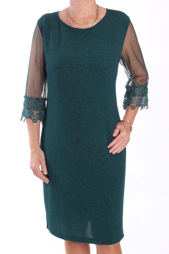 Dámske spoločenské elastické šaty nadmerné (38361) - kráľovské modré