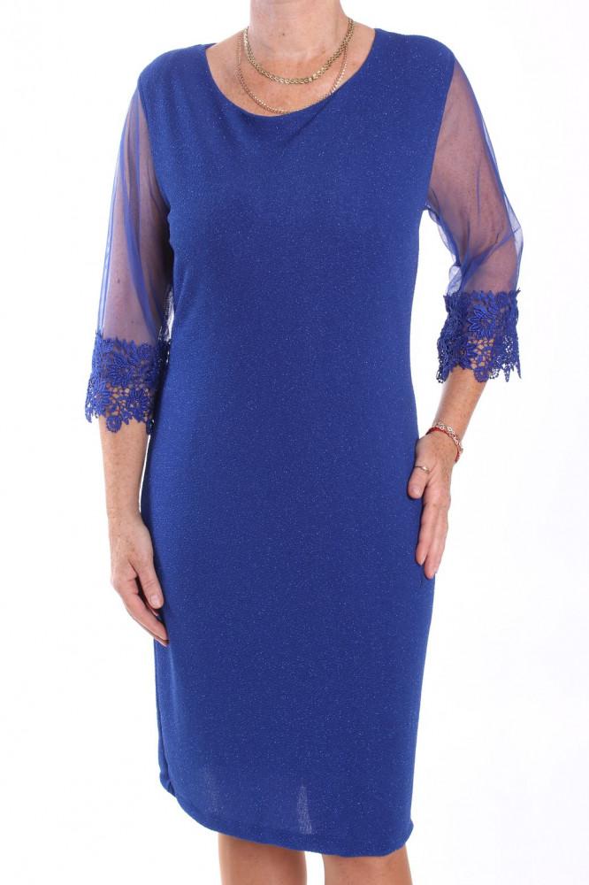 Dámske spoločenské elastické šaty nadmerné (38361) - tmavozelené