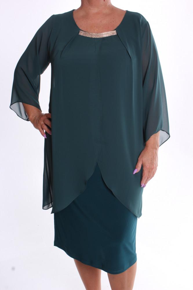 e8c93eb8d97 Dámske spoločenské elastické šaty so silonom VZOR 4. - zelené ...