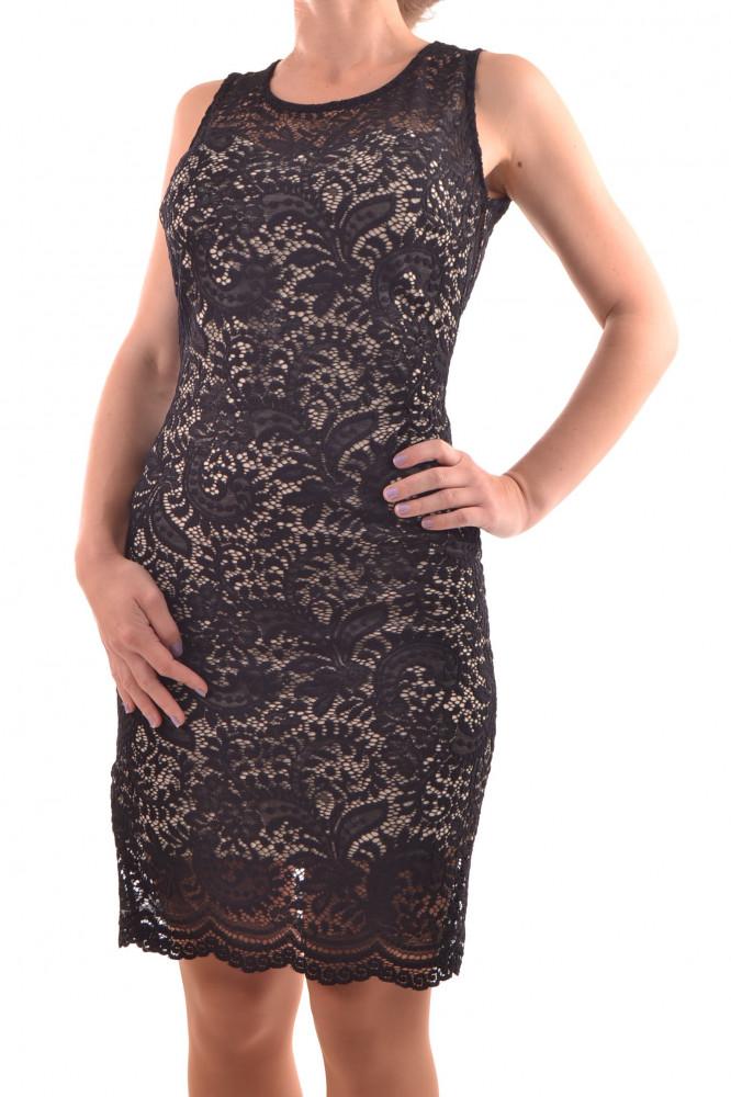11f3afd55aae Dámske spoločenské šaty čipkované - béžovo-čierne D3 - Spoločenské ...