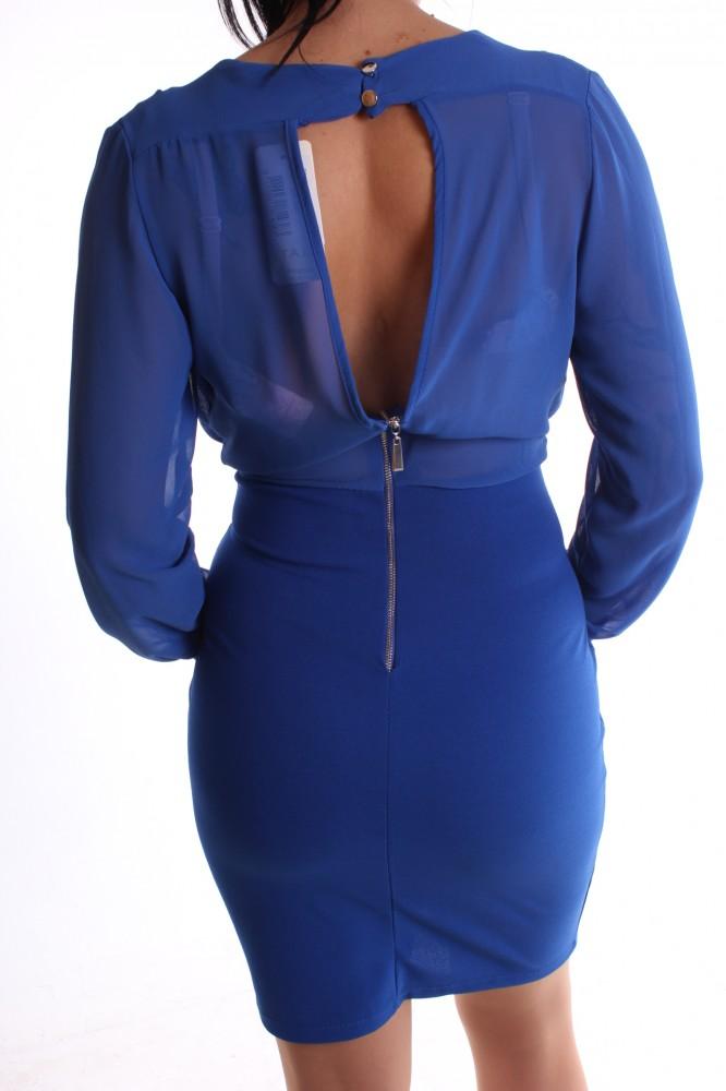 32905ef33aba Dámske spoločenské šaty s gombíkmi - parížske modré D3 - Spoločenské ...