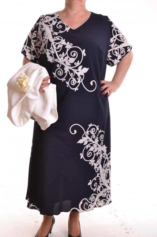 b738377dd Dámske spoločenské šaty s kabátikom - maslovo-modré D3 - Dámske šaty ...