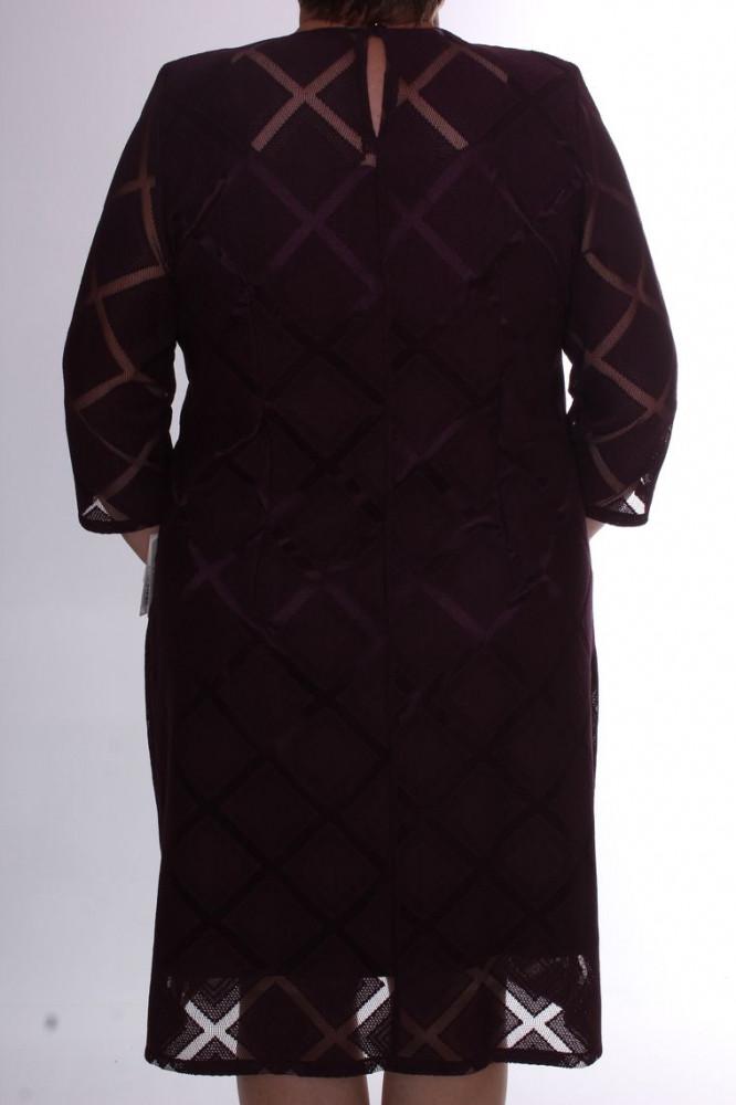 Dámske spoločenské šaty s kockami - baklažánové D3 - Spoločenské ... 257ba2834d