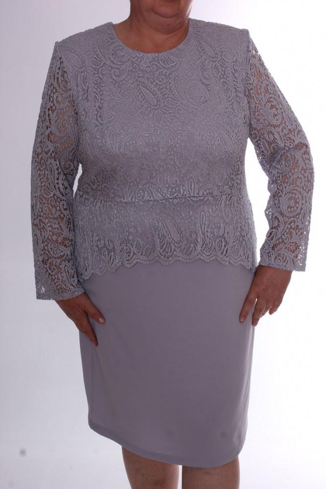 53fd79fa8908 Dámske spoločenské šaty s krajkou - bledosivé D3 - Spoločenské ...