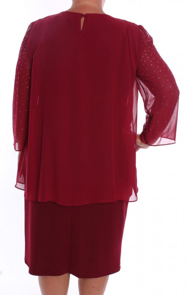33f20934a8b7 Dámske spoločenské šaty so silonom (37087) - bordové D3 ...