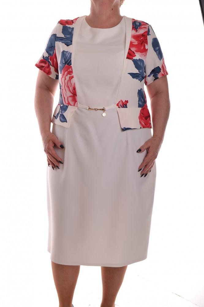 71d624818ff0 Dámske spoločenské šaty so sponou a imitáciou kabátika 1. - biele ...