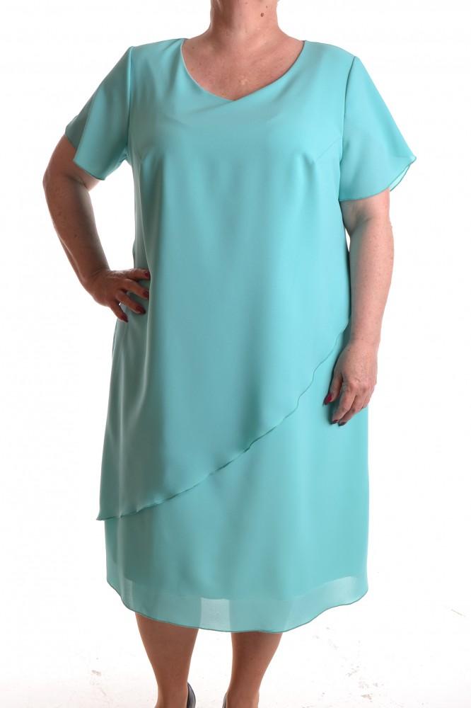 59029454028 Dámske spoločenské šaty - tyrkysové D3 - Spoločenské