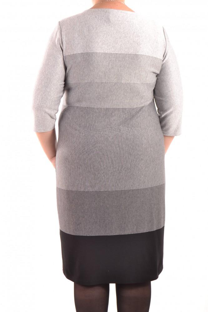 9cac7c01b5c6 Dámske úpletové šaty - sivo-čierne D3 - Ležérne šaty pre moletky ...