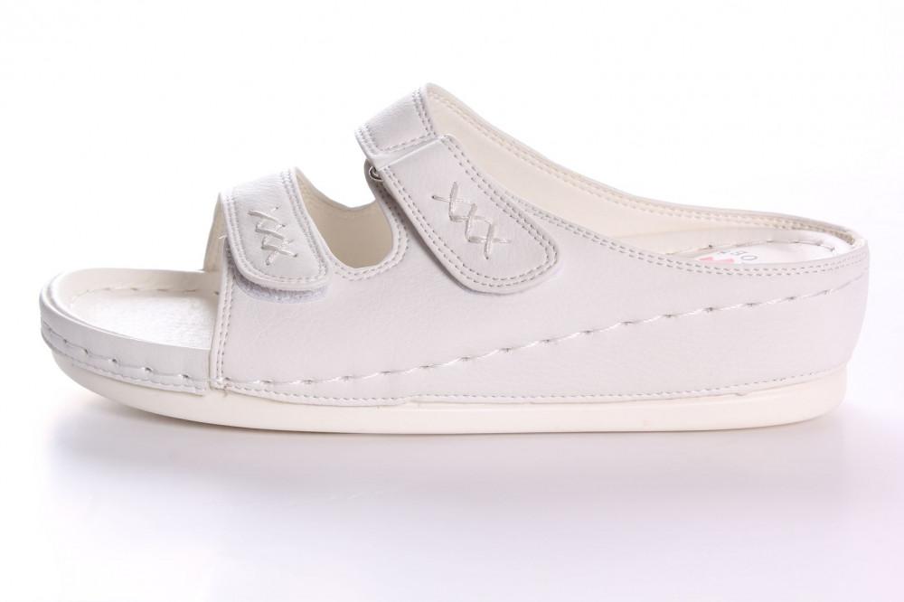 Dámske zdravotné papuče RANFA (DS-8302) - biele