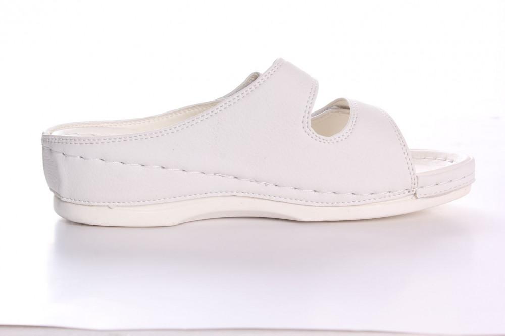 fc60659f3ba4 Dámske zdravotné papuče RANFA (DS-8302) - biele - Zdravotná obuv ...