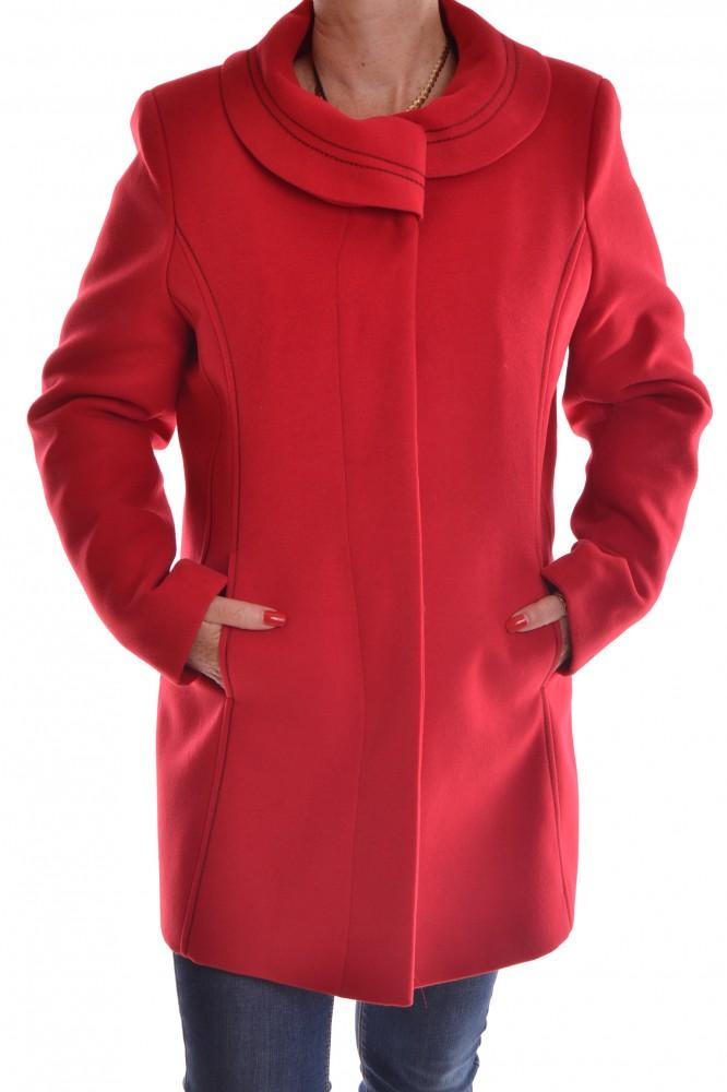 2fd0e0da7acd Dámsky flaušový kabát - červený - Dámske flaušové kabáty - Locca.sk