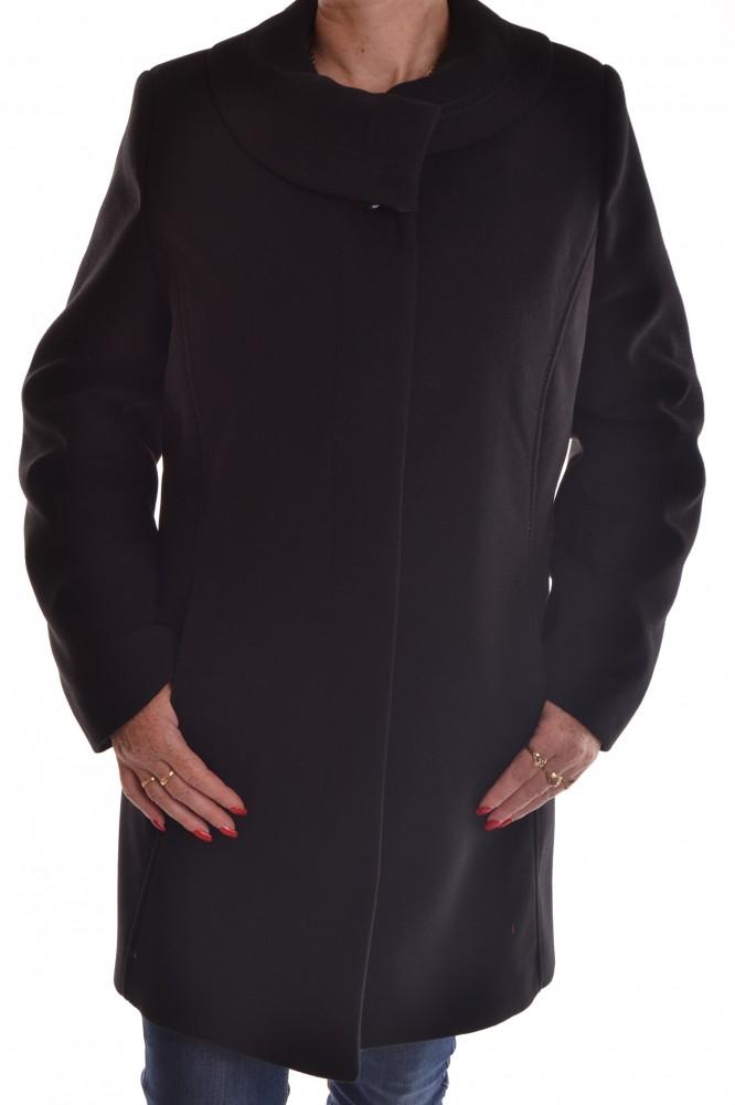 Dámsky flaušový kabát - čierny - Dámske flaušové kabáty - Locca.sk 5d78c6b1859