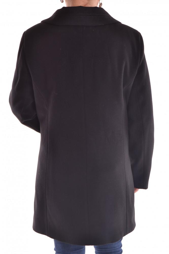 Dámske flaušové kabáty · Dámsky flaušový kabát - čierny · Dámsky flaušový  kabát - čierny  1 b968c7aebb4