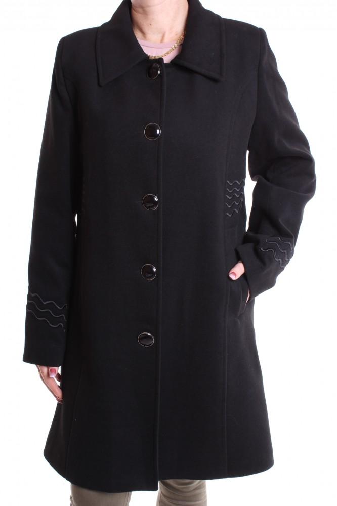 7eebc04a4721 Dámsky flaušový kabát VZOR 3 . - čierny - Dámske flaušové kabáty ...