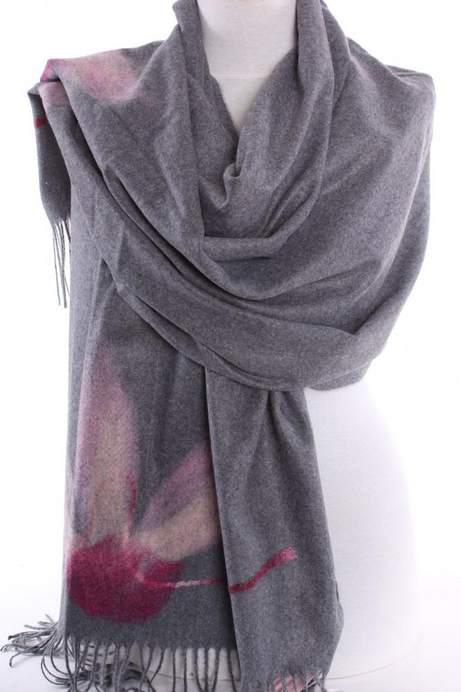 Dámsky šál VZOR 5686 - sivý (180x75 cm) - Dámske šály - Locca.sk b4e60341f7