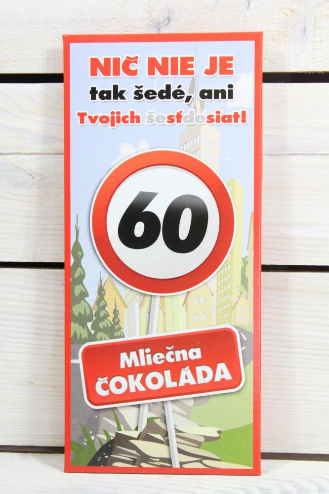 Darčeková čokoláda - VŠETKO NAJLEPŠIE 60