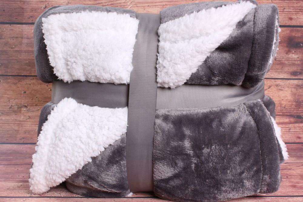 Deka jemná obojstranná (200x230 cm) - sivá