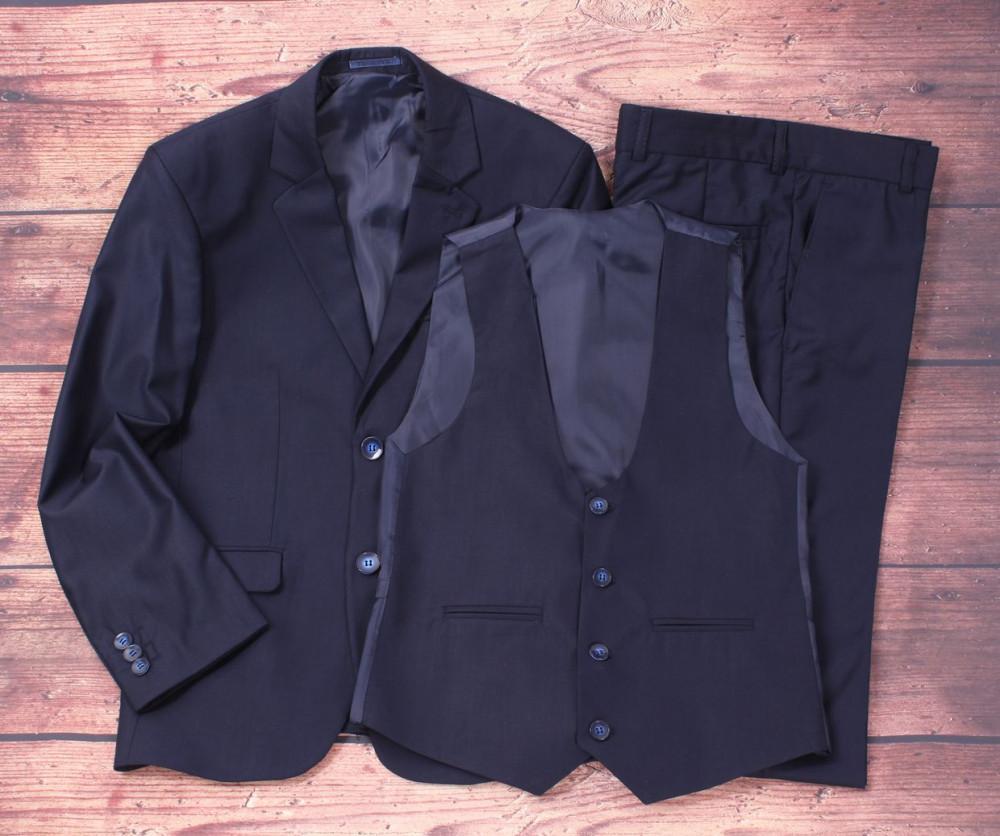 e1b9a817df15 Detský oblek trojkomplet - tmavomodrý (v. 146-164) - Chlapčenské ...