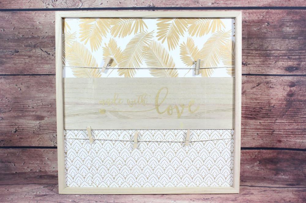 Drevený rám MADE WITH LOVE (40x40 cm)