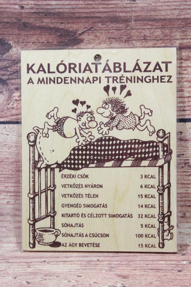 Fatábla KALÓRIATÁBLÁZAT (13,5 x 17,5 cm)