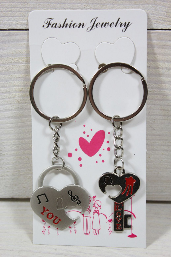 Kľúčenky LOVE 2 ks v balení VZOR 4.