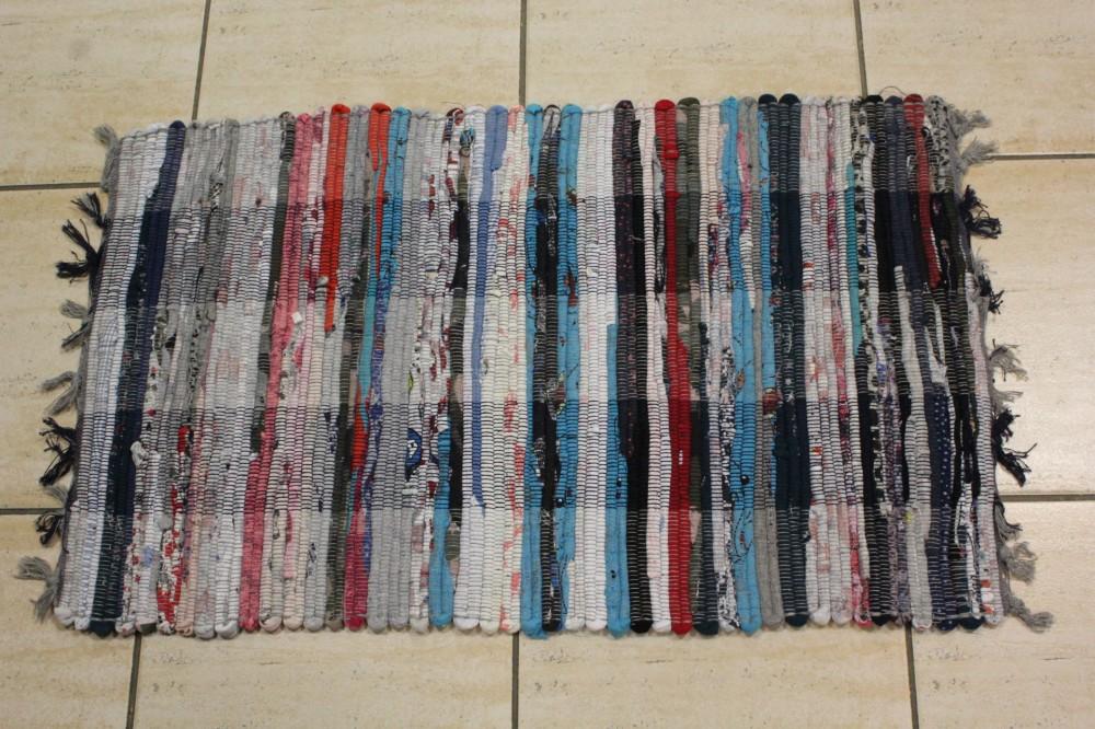 Koberec tkaný bavlnený VZOR 5. - farebný (45x75 cm)