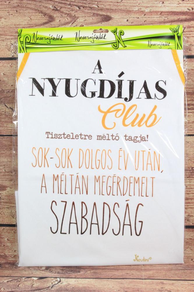 Kötény A NYUGDÍJAS CLUB