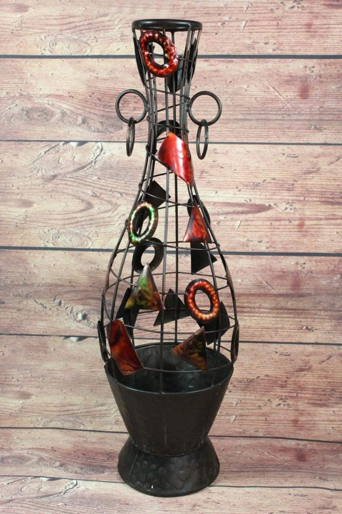 Kovová váza s motívom (v. 66 cm)
