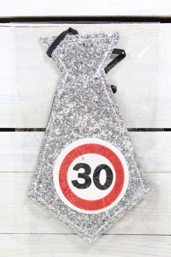 Kravata 30 - strieborná