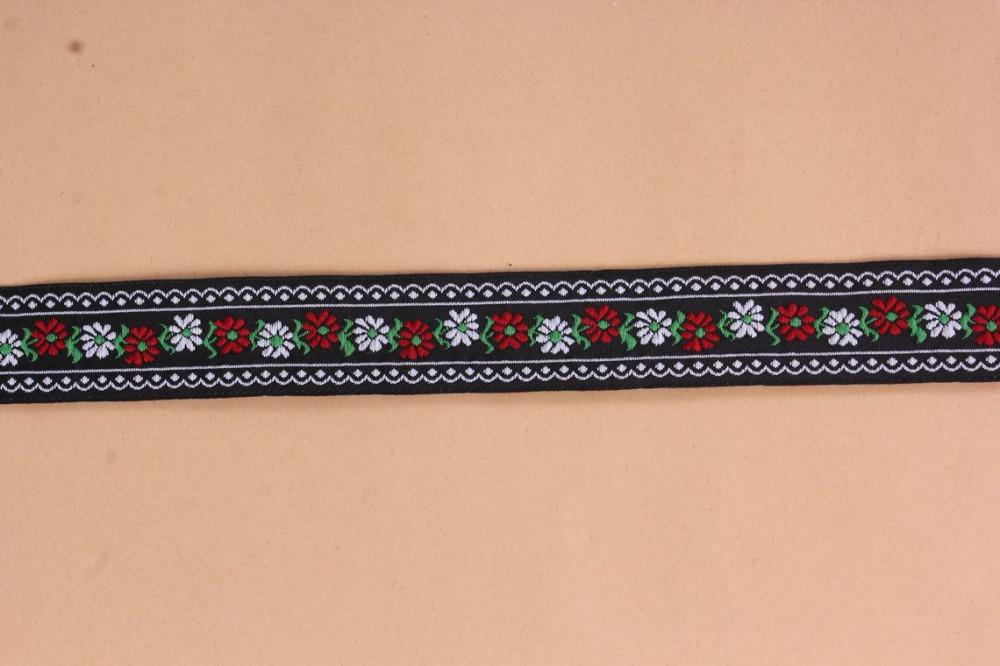 Krojová stuha (š. 2,5 cm) - čierno-biela