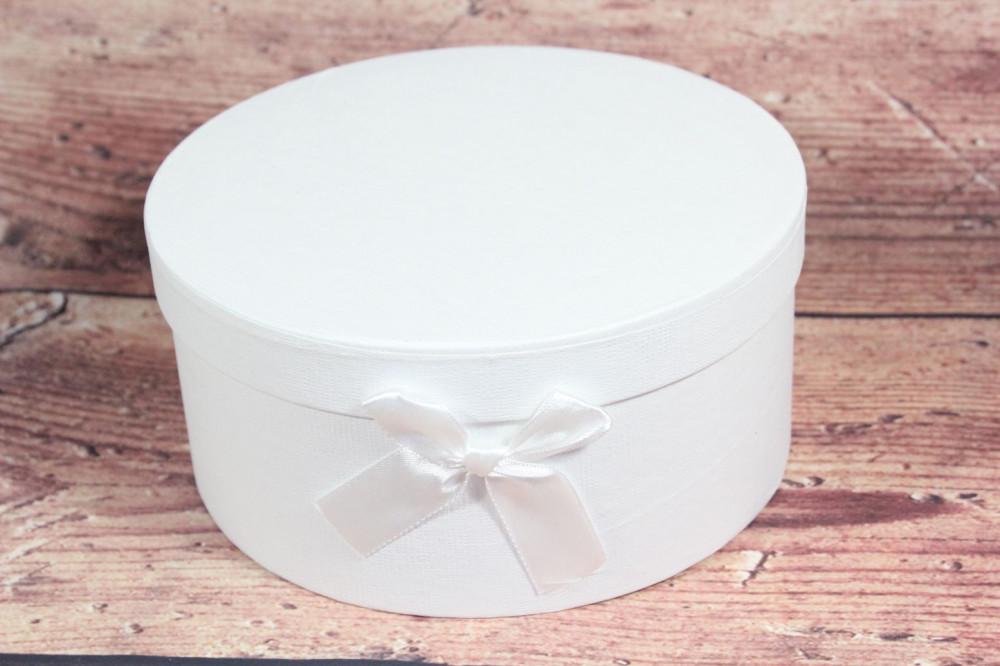 Ozdobná krabica - biela (p. 19 cm, v. 11 cm)