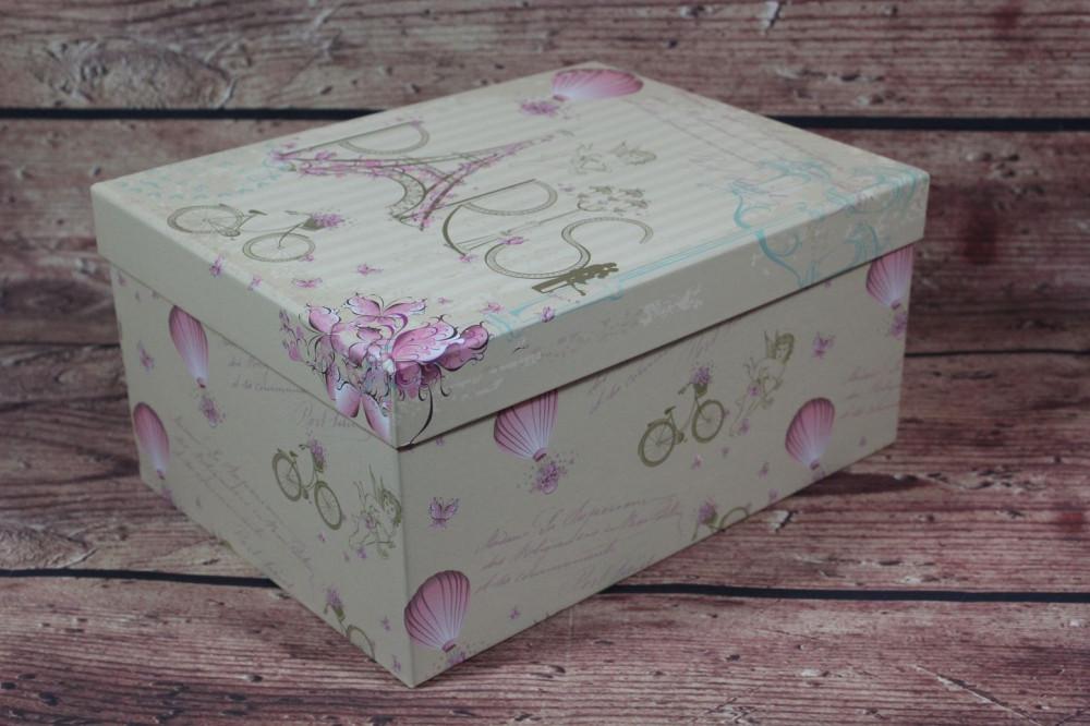 Ozdobná krabica PARIS (25x12x19 cm)
