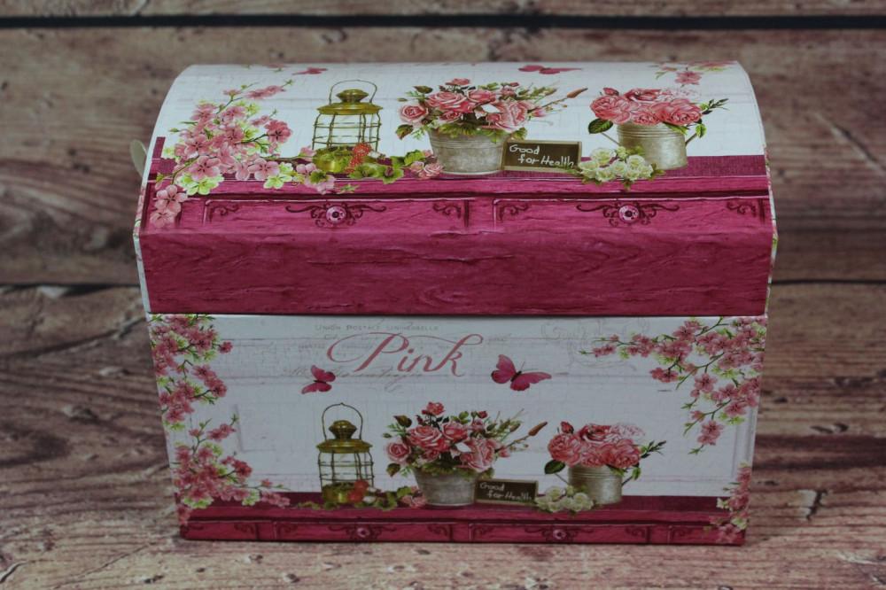 Ozdobná krabica PINK (18x13,5x12 cm)