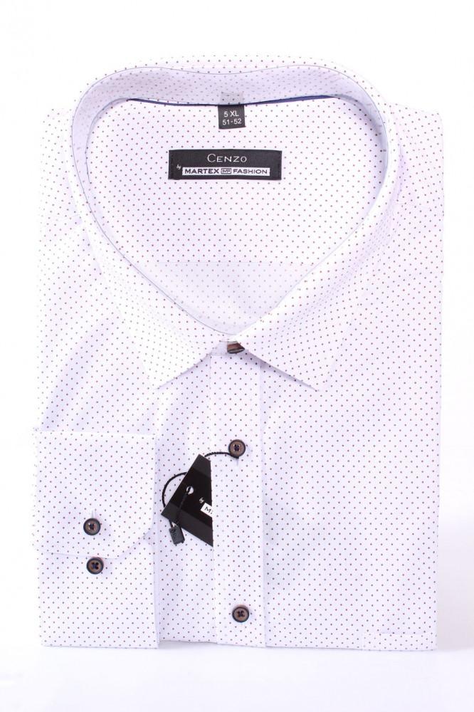 0890482305e8 Pánska bodkovaná košeľa MARTEX CLASSIC - hnedo-biela - Pánske ...