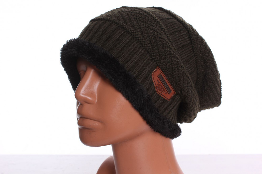 d326bb3829a8f Pánska čiapka zateplená (XW-7) - zelená - Pánske čiapky - Locca.sk