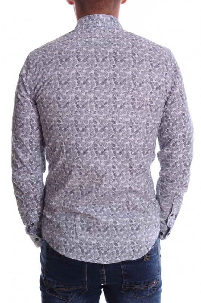 d2f6444877b3 Pánska elastická košeľa VZOR 01. - biela - Moderné pánske košele ...