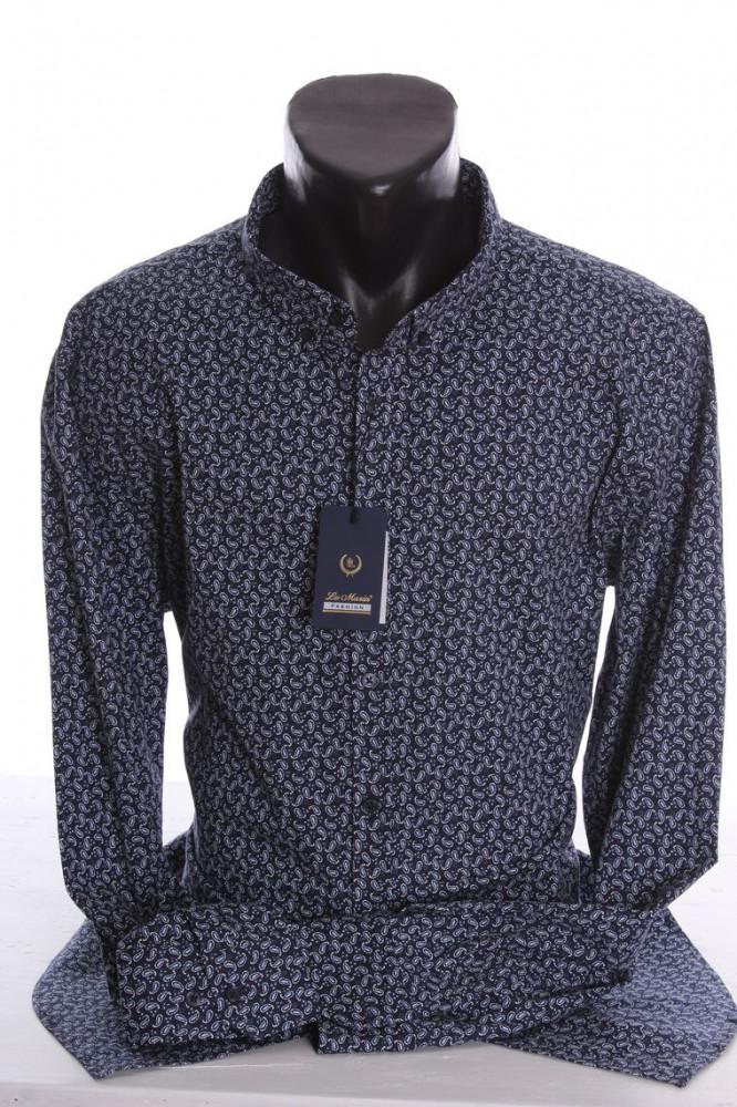 fc70be357dbf Pánska elastická košeľa VZOR 02. - tmavomodrá - Moderné pánske ...