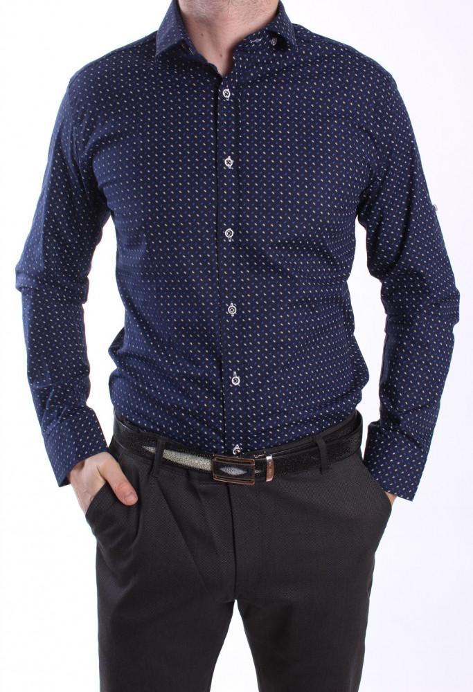 a8e0a718a091 Pánska elastická vzorovaná košeľa