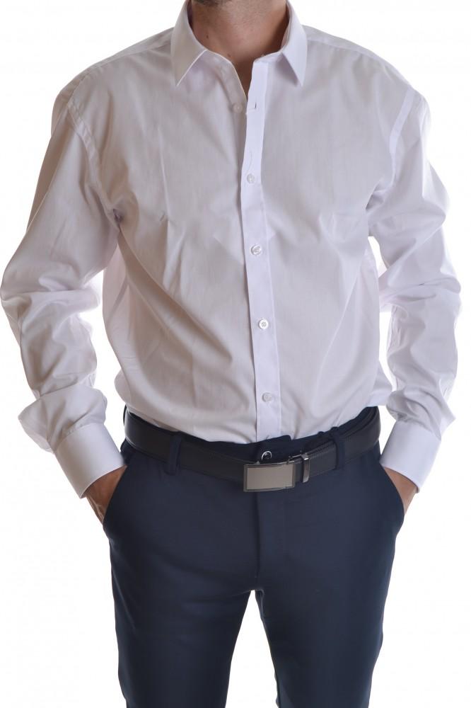 2403f062b03e Pánska košeľa - biela CLASSIC P17 - Pánske spločenské košele - Locca.sk