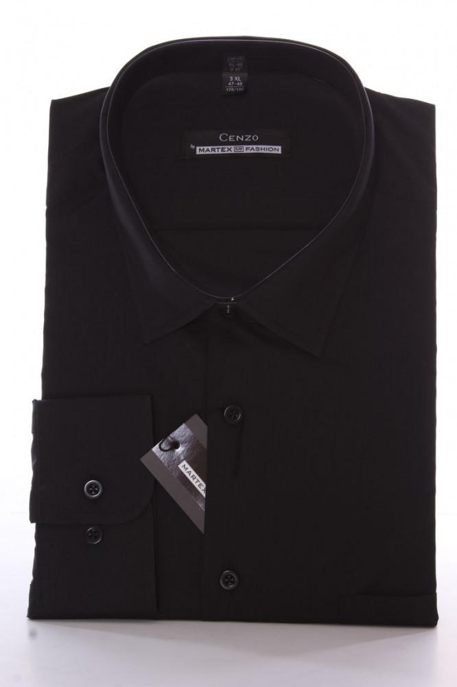 Pánska košeľa CENZO CLASSIC -čierna