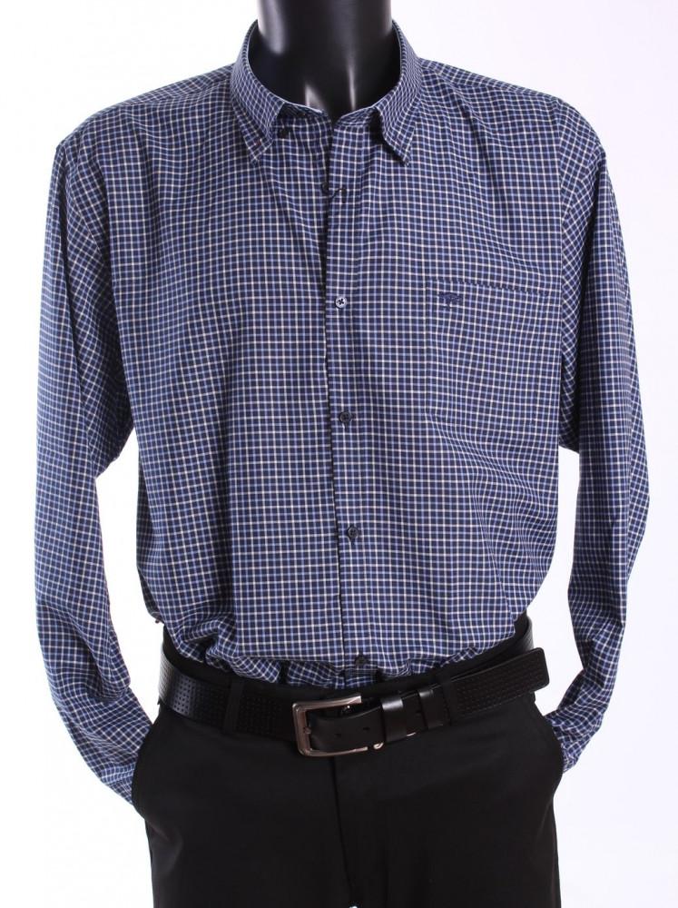 a1ef2d15d5b8 Pánska košeľa kockovaná - modro-biela - Pánske elegantné košele ...
