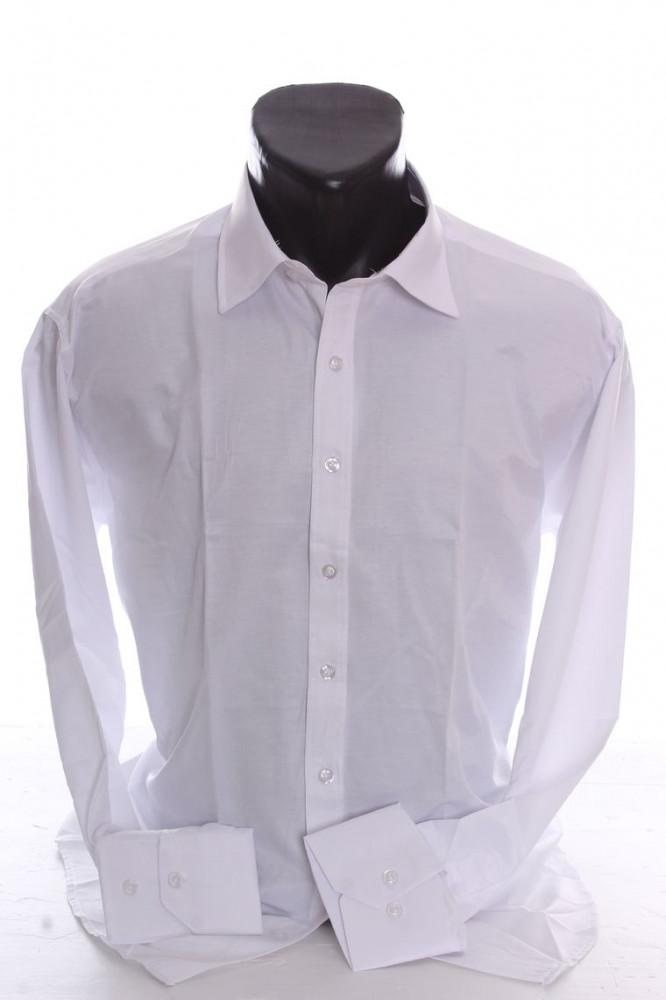 8b099b0b3b31 Pánska košeľa s dlhým rukávom SLIM FIT - biela - Pánske košele slim ...