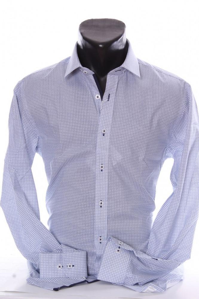 0d2f393fac98 Pánska košeľa VZOR 5. PIERTRO MONTI SLIM (v. 176-182 cm) - modro-biela P17