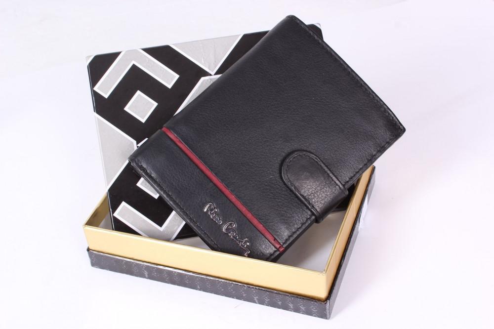 2329d5276 Pánska kožená peňaženka PIERRE CARDIN (TLK15 326A RFID)-čierno-bordová  (10x12