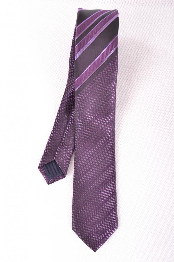 Pánska kravata vzorovaná - fialová (5 1128a9af76
