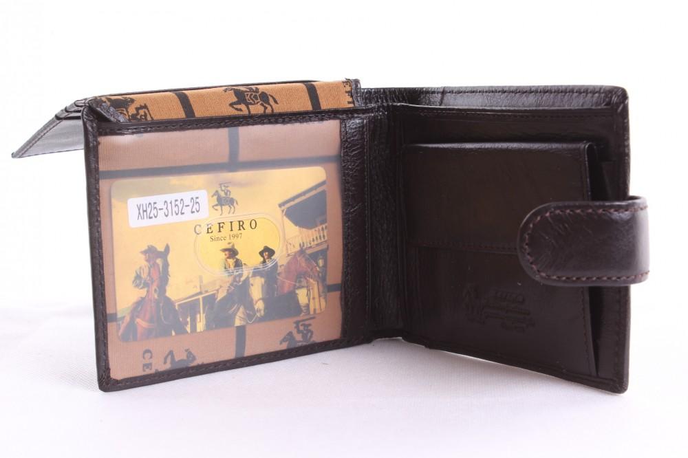 1d02d15a8e6c Pánska peňaženka - tmavohnedá (XH25-3152-25) (10x12 cm) - Pánske ...