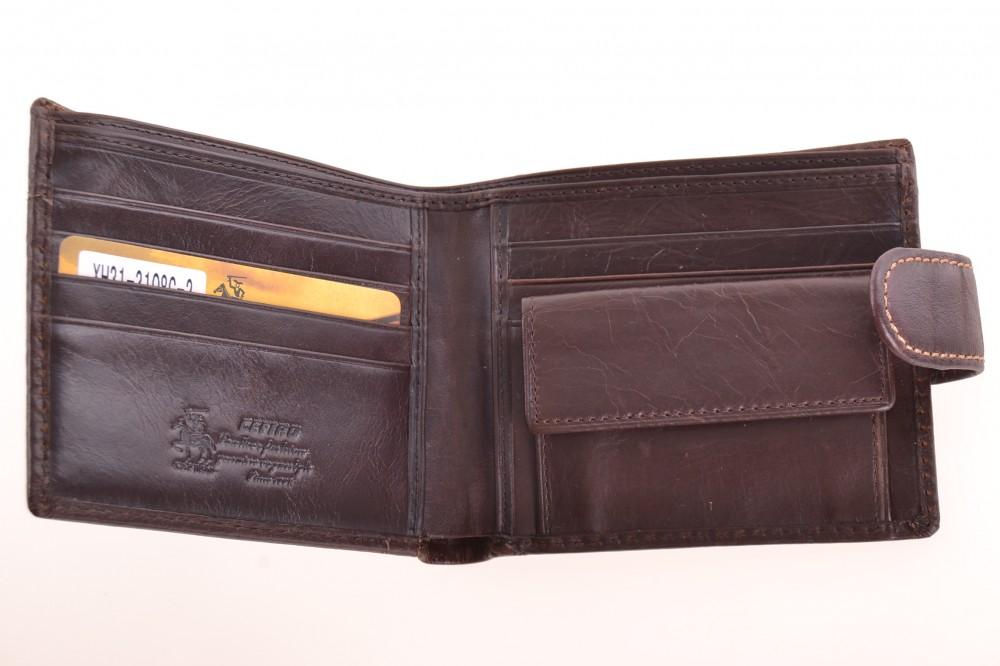 2710225d24ff Pánska peňaženka - tmavohnedá (XH31-3108G-2) (11x9 cm) - Dámske ...