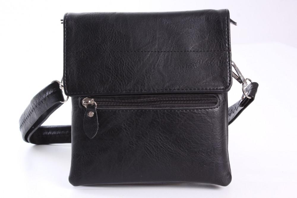 Pánska taška cez plece (17x18,5x5 cm) - čierna