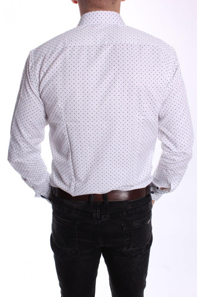11e55da14a25 Pánska vzorovaná košeľa PIETRO MONTI VZOR 001. SLIM - biela - Pánske ...