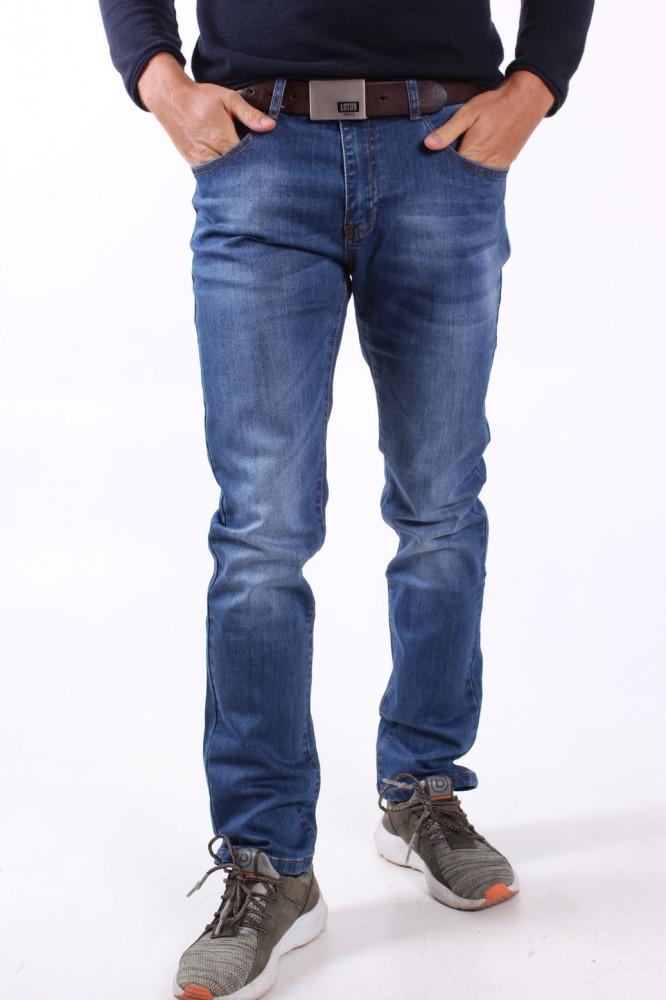 Pánske elastické rifľové nohavice MID.POINT (KB2067) - modré